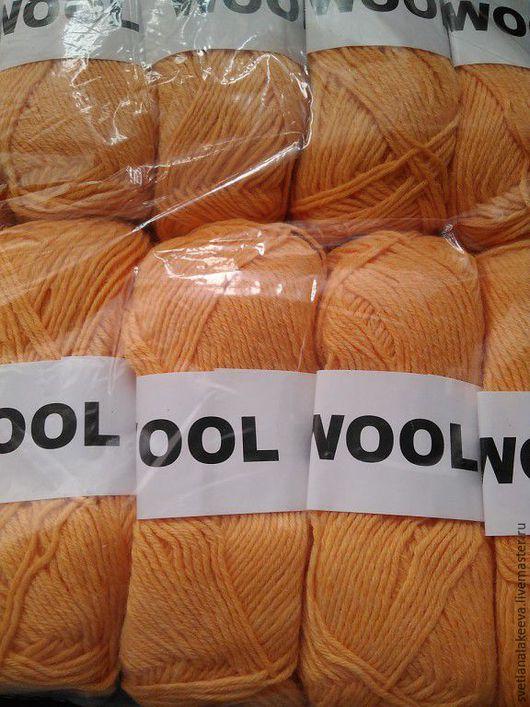 Вязание ручной работы. Ярмарка Мастеров - ручная работа. Купить 80% мериносовая шерсть 20% ПА,. Handmade. Оранжевый, меринос