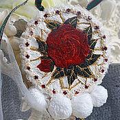 """Украшения ручной работы. Ярмарка Мастеров - ручная работа брошь-кулон """" Те самые  розы D&G"""". Handmade."""