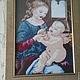 """Иконы ручной работы. Ярмарка Мастеров - ручная работа. Купить """"Мадонна с ребенком"""". Handmade. Икона, картина крестом, картина для интерьера"""