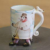 """Посуда ручной работы. Ярмарка Мастеров - ручная работа чашка """"Иду, курю"""". Handmade."""