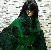 Одежда ручной работы. Ярмарка Мастеров - ручная работа Акция-20%. Пальто в стиле FENDI. Зелень. Handmade.