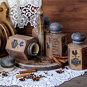 Для дома и интерьера handmade. Livemaster - original item Set for spices and bulk products,