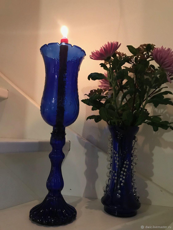Vintage: Candlestick 'Bell', glass, Holland, Vintage interior, Arnhem,  Фото №1