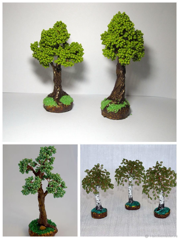 Браслеты ручной работы. Ярмарка Мастеров - ручная работа. Купить Миниатюрные деревья из бисера. Handmade. Корпоративный подарок, поделки из бисера