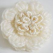 Украшения handmade. Livemaster - original item Brooch crocheted with embroidery Floral waltz. Handmade.