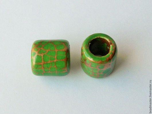 Для украшений ручной работы. Ярмарка Мастеров - ручная работа. Купить Бусина,керамическая,отверстие 10 мм,БКЖ5. Handmade.