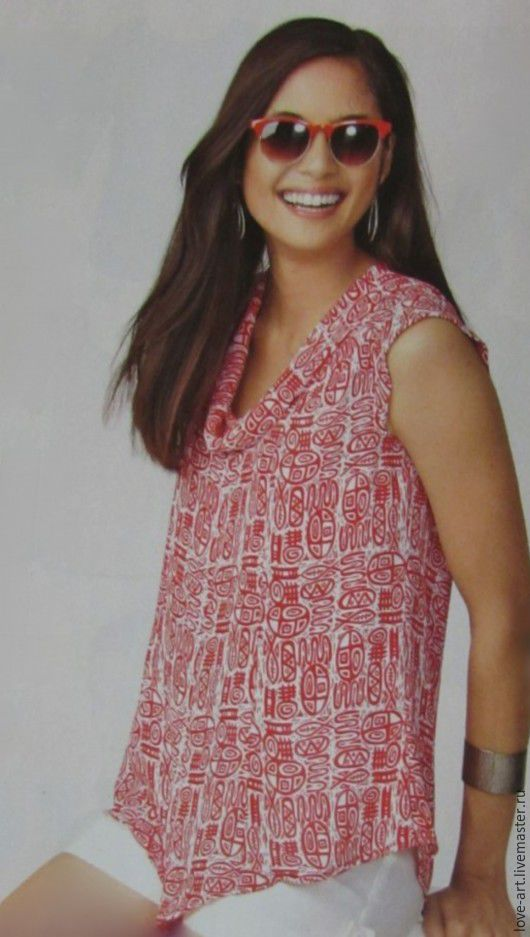 Блузки ручной работы. Ярмарка Мастеров - ручная работа. Купить Блуза14. Handmade. Комбинированный, блуза женская, art, легкая ткань