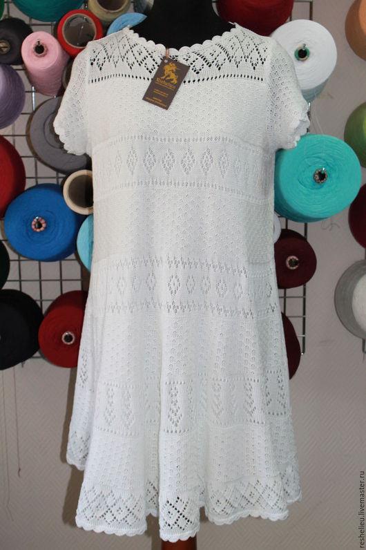 Платья ручной работы. Ярмарка Мастеров - ручная работа. Купить Платье вязаное №60 из 100% итальянского хлопка. Handmade.