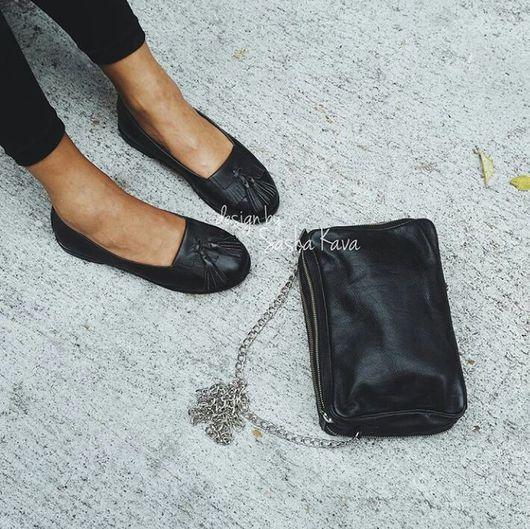 Обувь ручной работы. Ярмарка Мастеров - ручная работа. Купить Лоферы  из натуральной кожи.. Handmade. Лоферы, кожаные лоферы