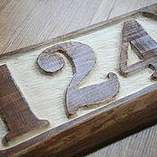 Для дома и интерьера ручной работы. Ярмарка Мастеров - ручная работа Табличка с номером дома. Handmade.