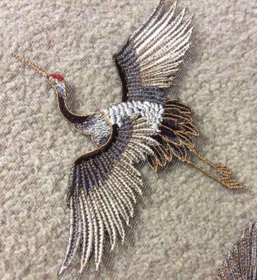 Аппликации, вставки, отделка ручной работы. Ярмарка Мастеров - ручная работа. Купить Вышивка - аппликация Птицы. Handmade. Вышивка, органза