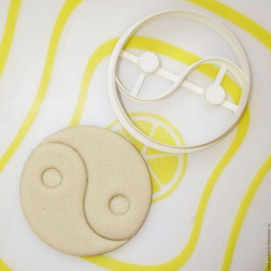 Инь-Янь.  Вырубка-штамп для пряников, печенья, поделок из соленого теста.