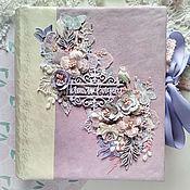 Подарки ручной работы. Ярмарка Мастеров - ручная работа Альбом свадебный нежно-фиолетовый с цветами. Handmade.