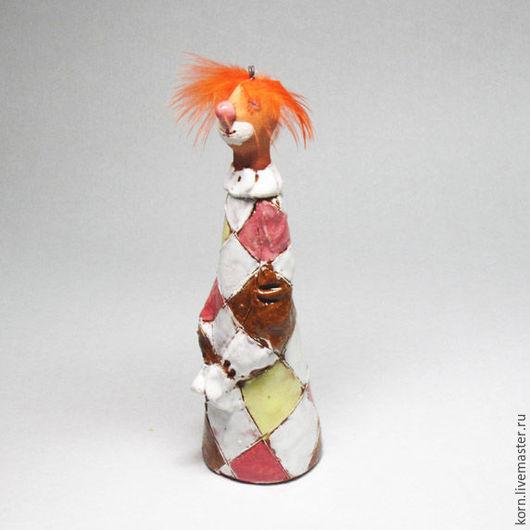 """Колокольчики ручной работы. Ярмарка Мастеров - ручная работа. Купить Колокольчик """"Рыжий клоун"""". Handmade. Рыжий, цирк, Фокусы, звон"""