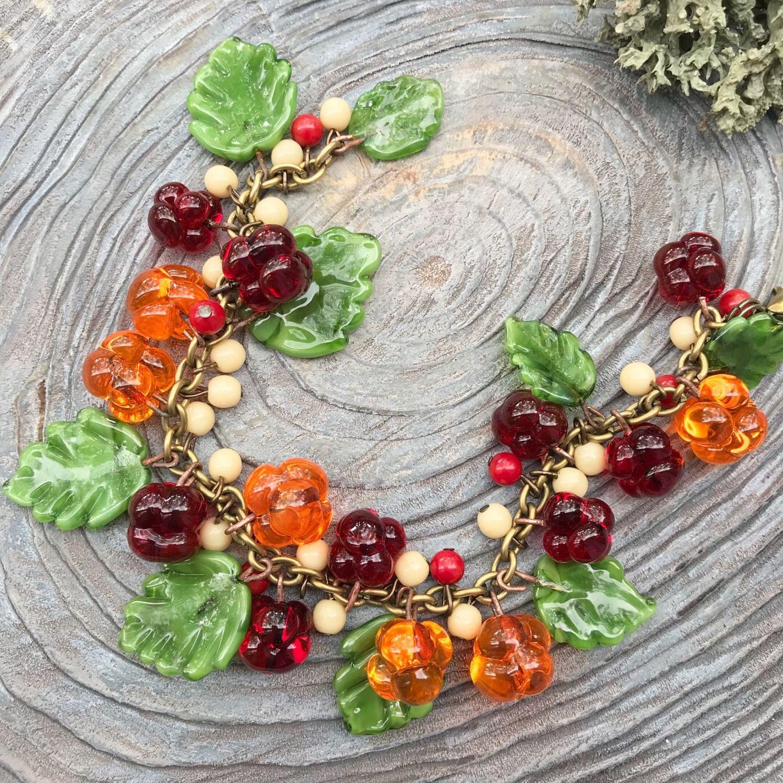 Ягодный браслет, Браслет из бусин, Светлогорск,  Фото №1