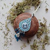 Украшения ручной работы. Ярмарка Мастеров - ручная работа Кулон Light Blue. Handmade.