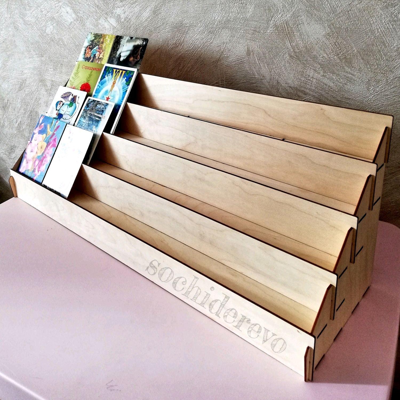 Деревянная подставка для открыток спб, небо