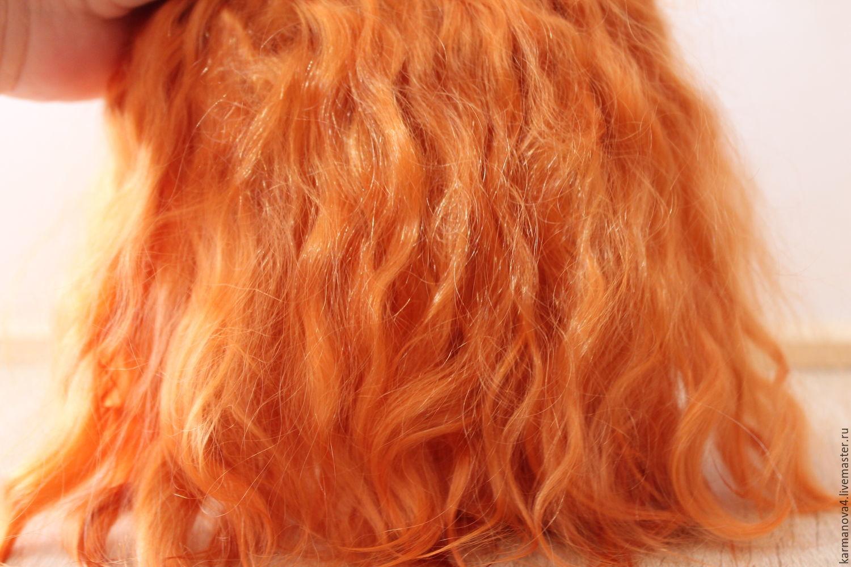 Mohair Tress Cognac Hair For Dolls Shop Online On Livemaster