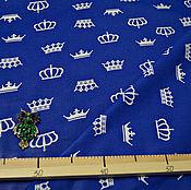 Материалы для творчества ручной работы. Ярмарка Мастеров - ручная работа Ткань Хлопок Короны. Handmade.