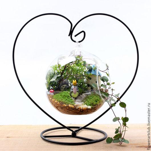 """Материалы для флористики ручной работы. Ярмарка Мастеров - ручная работа. Купить Подставка-основа """"сердце""""  для стеклянной вазы, мини-садика. Handmade."""