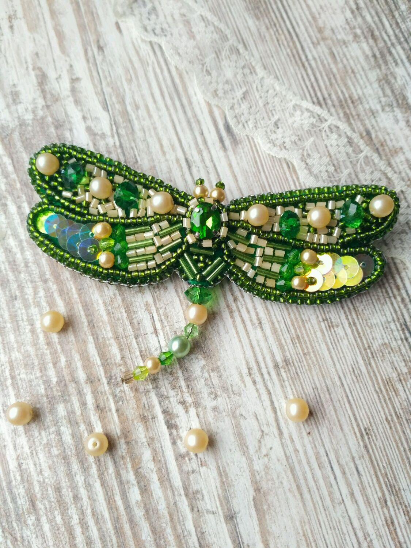 ЗеленаяСтрекоза (Green Dragonfly), Броши, Полтава, Фото №1