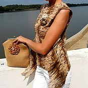 """Одежда ручной работы. Ярмарка Мастеров - ручная работа Авторская валяная блузка ручной работы """"Пески"""". Handmade."""