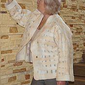 """Одежда ручной работы. Ярмарка Мастеров - ручная работа Жакет """" Сливочный пломбир"""" нуно. Handmade."""