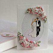 Свадебный салон ручной работы. Ярмарка Мастеров - ручная работа Свадебная открытка в коробочке - Нежная. Handmade.