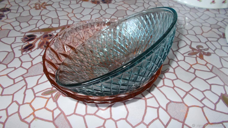 Kitchen utensils vintage:fruit bowl, glass vase, Vintage kitchen utensils, Orenburg,  Фото №1