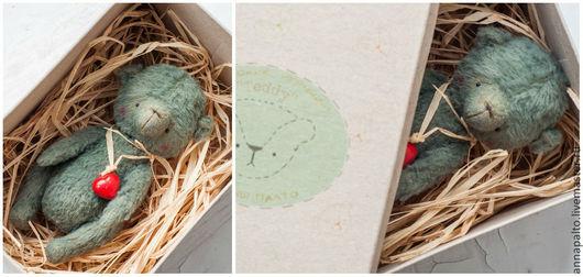 мишка тедди на  День Св.Валентина, мишка тедди из вискозы, мишка - девочка, мишка тедди антик от Анна Палто, мишка тедди отлично подойдет в подарок романтичной особе.