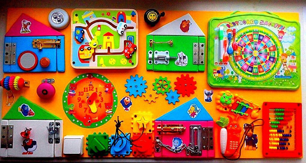 Развивающие игрушки ручной работы. Ярмарка Мастеров - ручная работа. Купить Бизиборд 41. Handmade. Развивающая игрушка, память