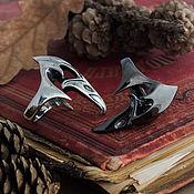 Украшения handmade. Livemaster - original item ring skull crow. Crow`s Skull. gothic ring. bronze silver.. Handmade.