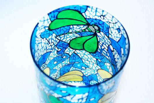 """Вазы ручной работы. Ярмарка Мастеров - ручная работа. Купить Ваза """"Стрекозы"""". Handmade. Стрекоза, ваза декоративная, витражное стекло"""