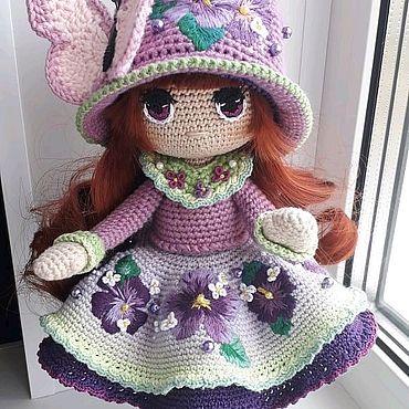 Для дома и интерьера ручной работы. Ярмарка Мастеров - ручная работа Кукла интерьерная вязаная. Handmade.