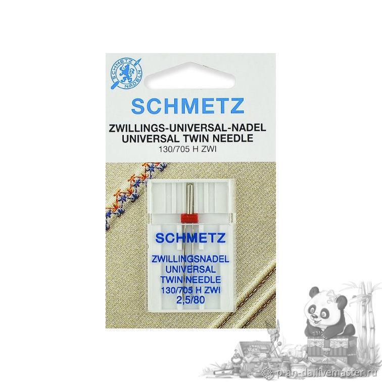 Двойная игла универсальная 80/2,5 Schmetz для швейной машины, Инструменты для шитья, Москва,  Фото №1