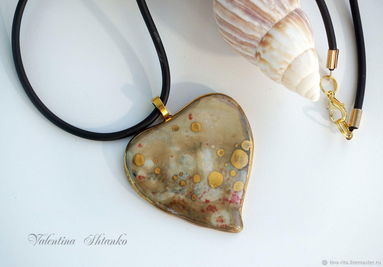 Porcelain pendant on a rubber cord, Jewelry Sets, Severobaikalsk,  Фото №1