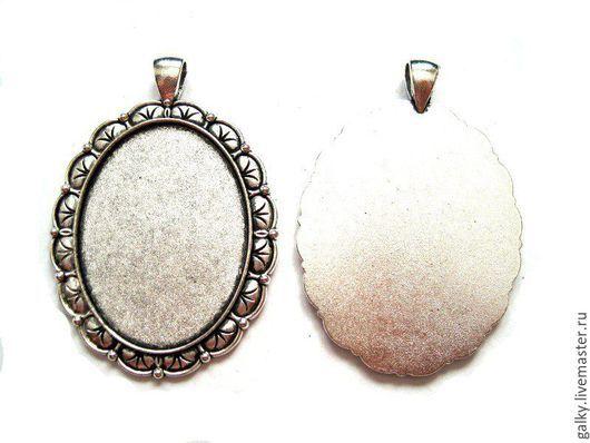 Для украшений ручной работы. Ярмарка Мастеров - ручная работа. Купить Основа для кулона с листиками античное серебро. Handmade.