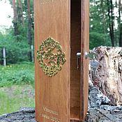 Свадебный салон handmade. Livemaster - original item A wooden box with a personalized gold monogram and engraved. Handmade.