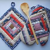 Для дома и интерьера ручной работы. Ярмарка Мастеров - ручная работа Набор прихваток с варежкой. Handmade.