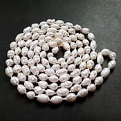 Necklace handmade. Livemaster - original item long necklace of natural pearls,