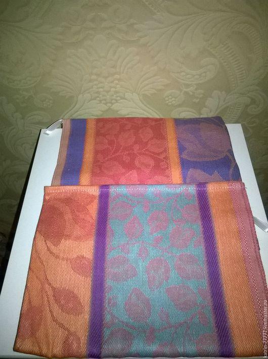 Текстиль, ковры ручной работы. Ярмарка Мастеров - ручная работа. Купить Льняное кухонное полотенце. 2шт.. Handmade. Комбинированный