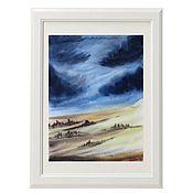Картины и панно handmade. Livemaster - original item Watercolor Before the rain 2. Handmade.