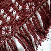 Аксессуары handmade. Livemaster - original item Burgundy shawl. Handmade.