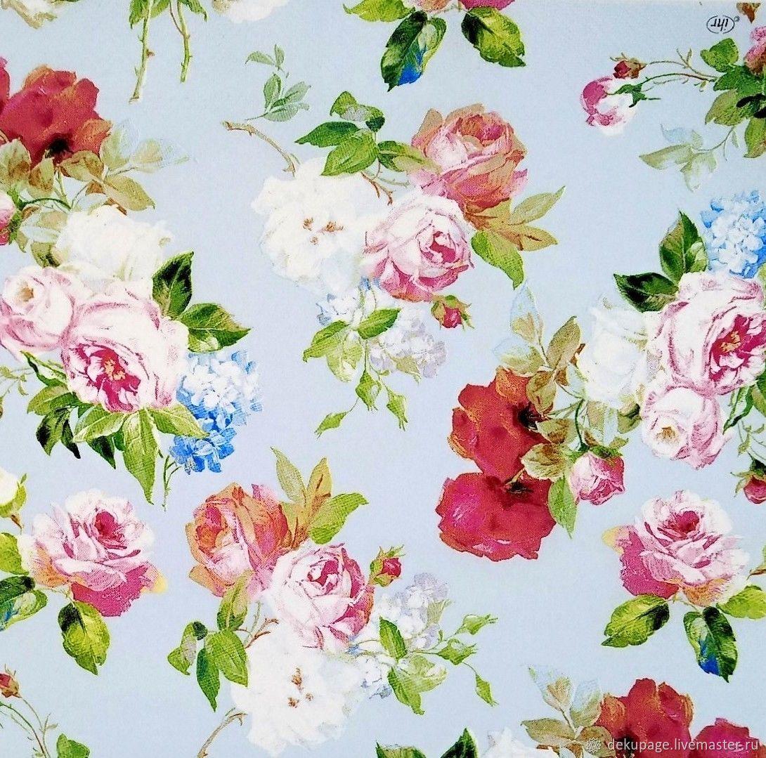 британской картинки для декупажа розы на голубом фоне мой имидж фресках