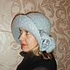 """Шляпы ручной работы. Ярмарка Мастеров - ручная работа. Купить Шляпа вязаная """"Зимний гламур"""" (серый). Handmade. Однотонный, шляпка"""