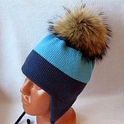 Работы для детей, ручной работы. Ярмарка Мастеров - ручная работа Зимняя мериносовая шапочка для мальчика.... Handmade.