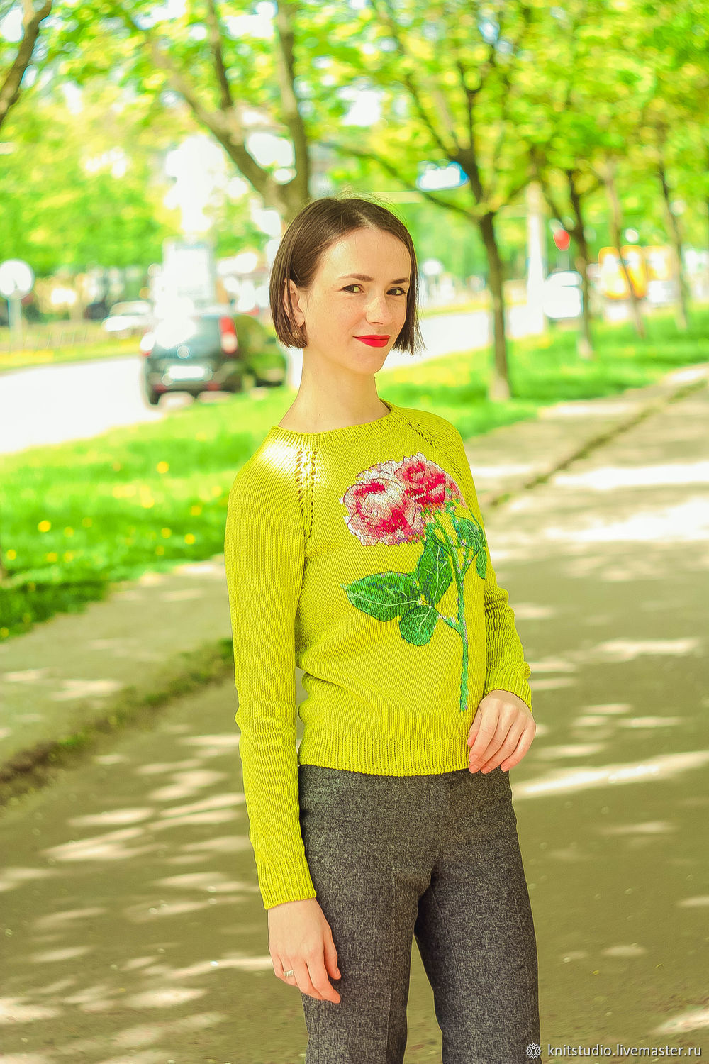 2bca67a4051 Buy Silk cardigan with embroidered roses · Sweater Jackets   Sweaters  handmade. Silk cardigan with embroidered roses.