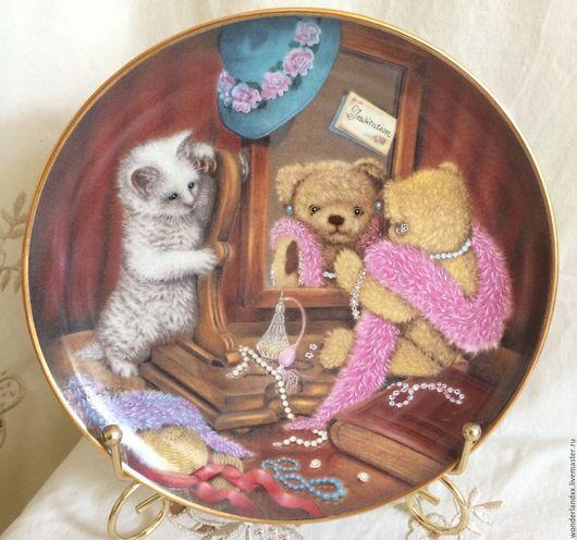 Винтажные предметы интерьера. Ярмарка Мастеров - ручная работа. Купить тарелочка коллекционная, Франклин Минт, 80е. Handmade. Комбинированный