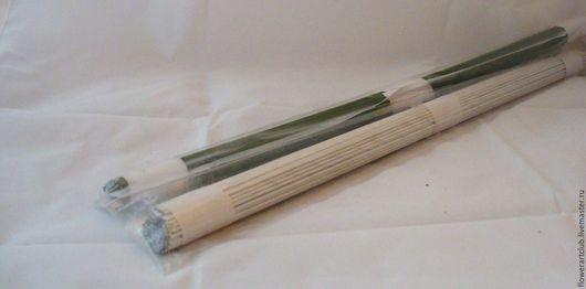 Другие виды рукоделия ручной работы. Ярмарка Мастеров - ручная работа. Купить Проволока №18  - 31 см -  белая,  зелёная - 10 или 100 штук. Handmade.