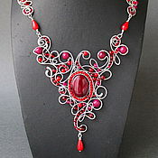 Украшения handmade. Livemaster - original item Necklace Balanchine.Rubies. Handmade.